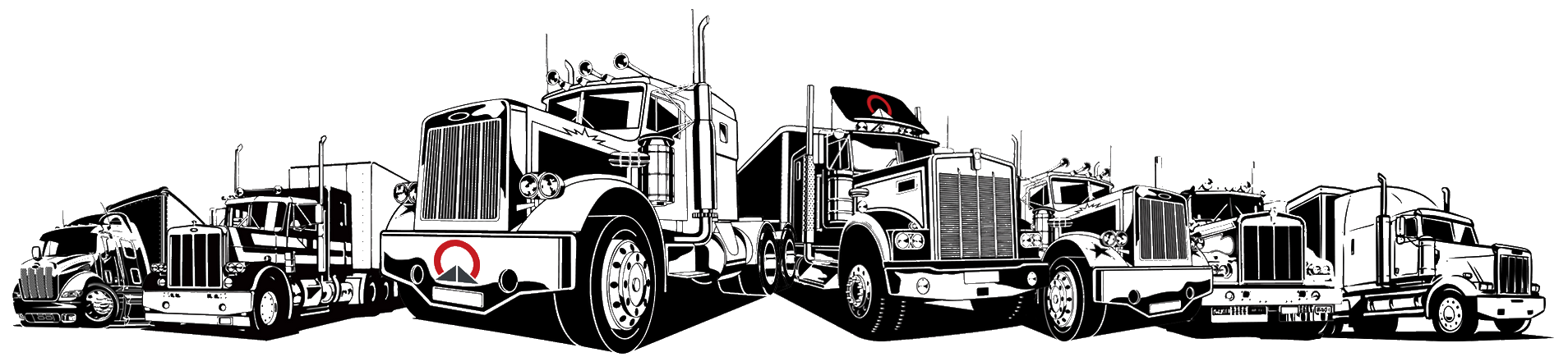 Omega Freight Trucks Illustration